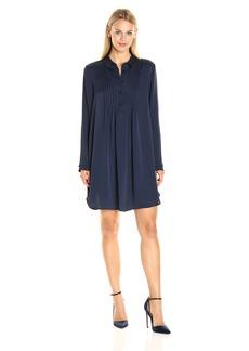 BCBGeneration Women's Pintuck Shirt Dress