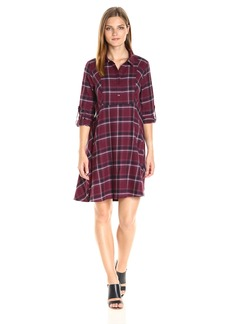 BCBGeneration Women's Plaid Shirt Dress