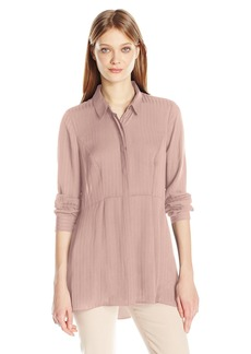 BCBGeneration Women's Pleated Button Down Tunic
