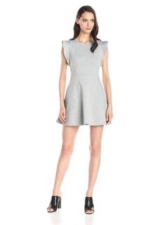 BCBGeneration Women's Ponte Flutter-Sleeve Dress
