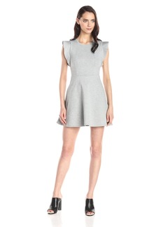 BCBGeneration Women's Ponte Flutter-Sleeve Dress