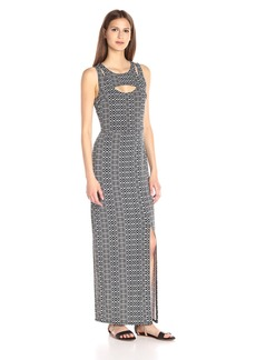 BCBGeneration Women's Multi Print Overlay Maxi Dress