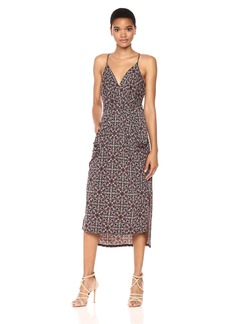 BCBGeneration Women's Printed Faux Wrap Dress