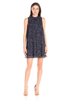BCBGeneration Women's Printed High Neck Pleat Dress