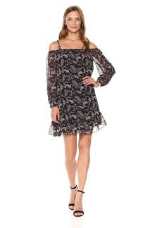 BCBGeneration Women's Long Sleeve Off Shoulder Dress  XS