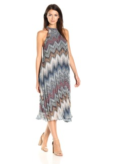 BCBGeneration Women's Printed Pleated Midi Dress  XXS