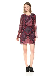 BCBGeneration Women's Printed Ruffle Flirty Dress
