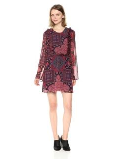 BCBGeneration Women's Printed Ruffle Flirty Dress