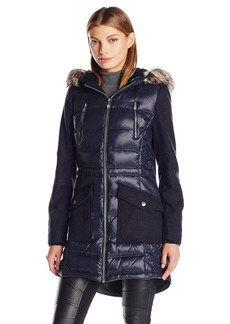 BCBGeneration Women's Puffer Wool Anorak Coat  L