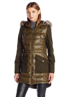 BCBGeneration Women's Puffer Wool Anorak Coat  S