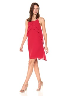 BCBGeneration Women's Ruffle Front Dress