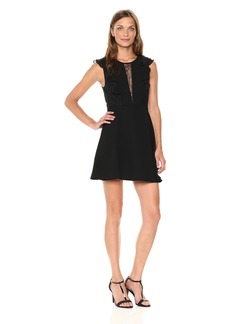 BCBGeneration Women's Ruffle Inset Dress