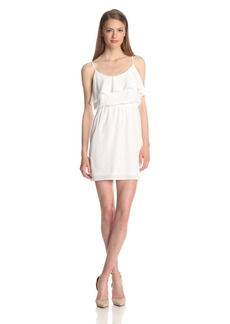 BCBGeneration Women's Ruffle Neck Dress