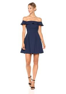 BCBGeneration Women's Ruffle Off The Shoulder Dress