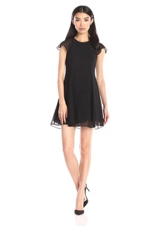 BCBGeneration Women's Ruffle Sleeve Dress