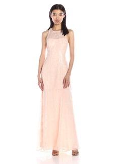 BCBGeneration Women's Sequin  Halter Neckline Dress