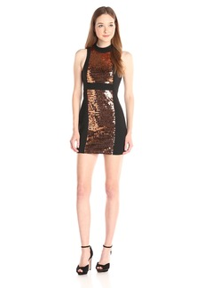 BCBGeneration Women's Sequins Dress with Contrast