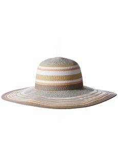 BCBGeneration Women's Sheerly Striped Floppy Hat