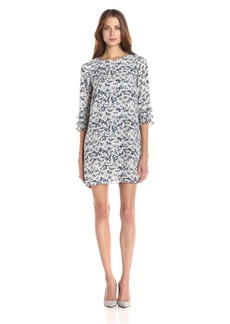 BCBGeneration Women's Shift Dress With Ruffle Sleeve  S
