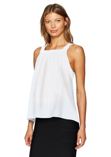 BCBGeneration Women's Shirred Square Neck Tank