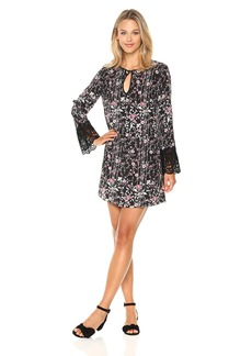 BCBGeneration Women's Shirt Dress with Lace Trim  S