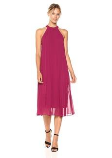BCBGeneration Women's Sleeveless Midi Pleated Dress  M