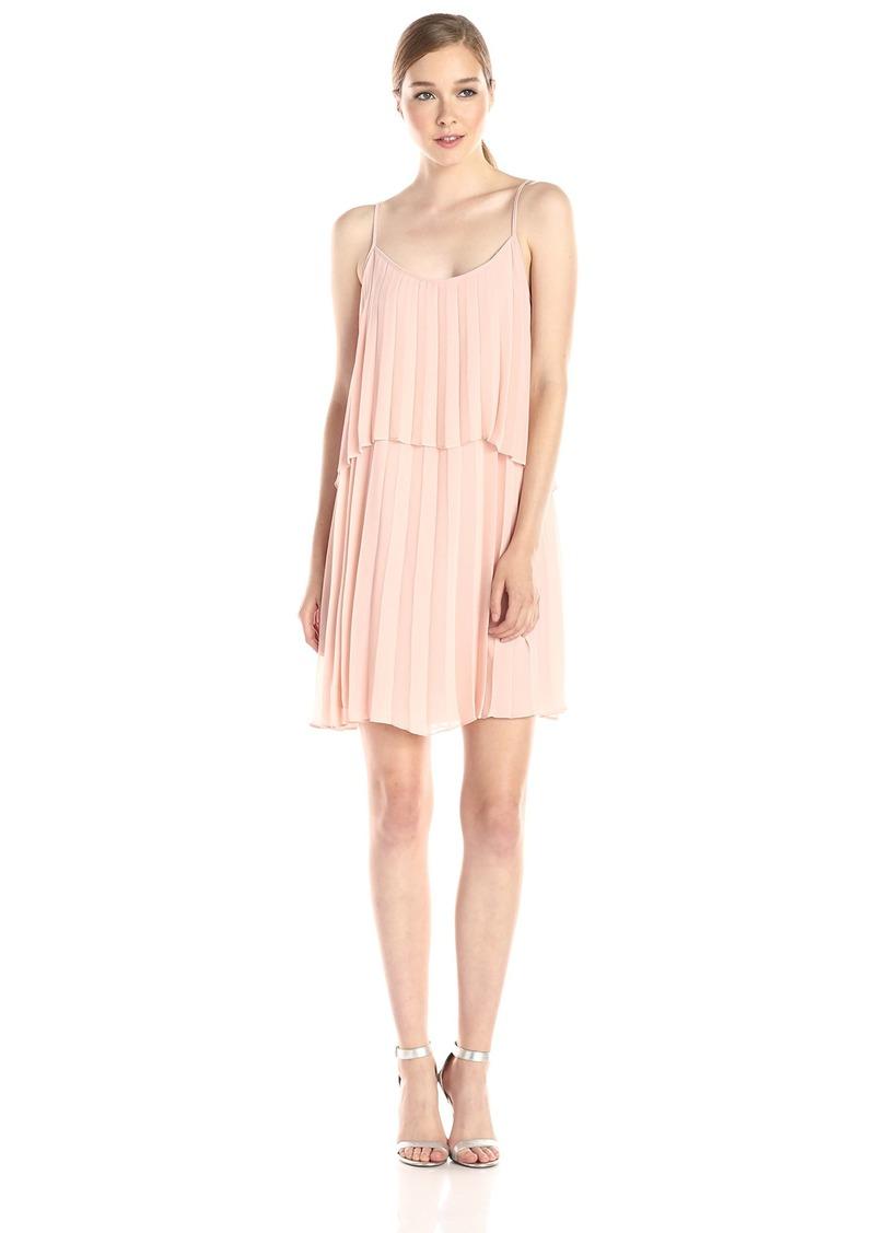 BCBGeneration Women's Sleeveless Sunburst Hi Low Pleated Dress