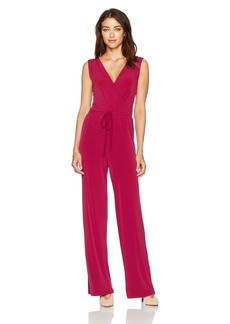 BCBGeneration Women's Sleeveless Surplice Jumpsuit
