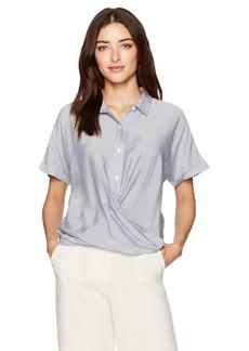 BCBGeneration Women's Stripe Dolman Wrap Hem Shirt