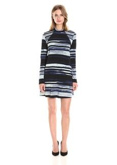 BCBGeneration Women's Stripe Flare Dress