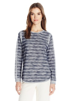 BCBGeneration Women's Stripe Panel Sweatshirt