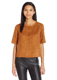 BCBGeneration Women's Suede Boxy Top