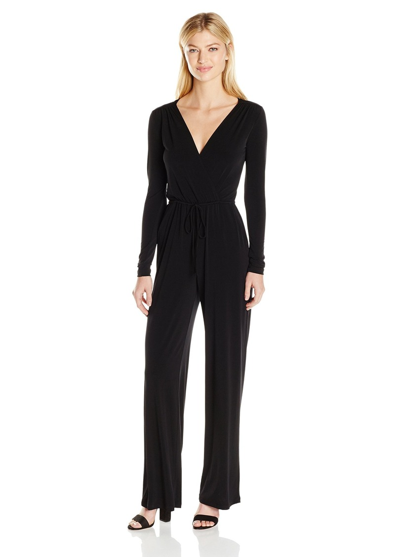 BCBGeneration Women's Surplice Jumpsuit