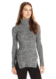 BCBGeneration Women's Textured Turtleneck Fitted Sweater