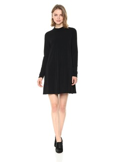 BCBGeneration Women's Turtle Neck Front Pleated Dress