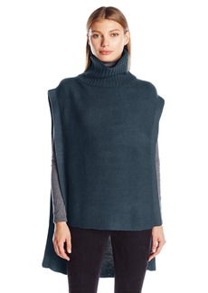 BCBGeneration Women's Turtle Neck Purl Poncho