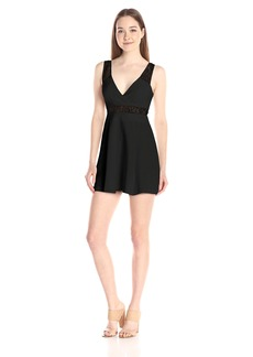 Bcbgeneration Women's V-Neck A-line Lace Dress