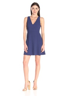 BCBGeneration Women's V-Neck Fit and Flare