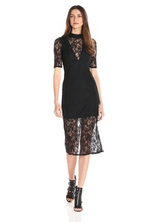 BCBGeneration Women's V-Neck Lace Dress