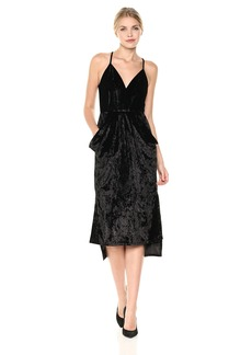 BCBGeneration Women's Velvet Faux Wrap Dress