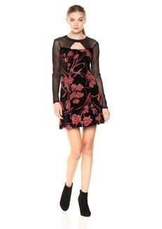 BCBGeneration Women's Velvet Fit and Flare Dress