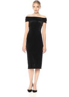 BCBGeneration Women's Velvet Off Shoulder Dress  XS