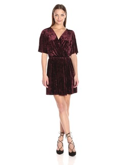 BCBGeneration Women's Velvet Surplice Dress  M