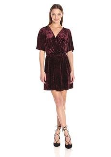 BCBGeneration Women's Velvet Surplice Dress  M