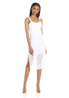 BCBGeneration Women's White Lace Midi Dress
