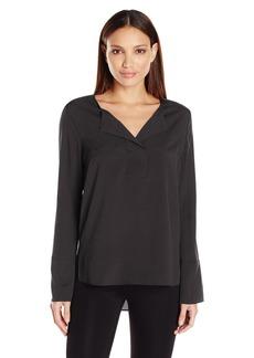 BCBGeneration Women's Wide Placket Henley Shirt