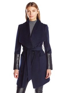 BCBGeneration Women's Wrap Wool Coat  XS