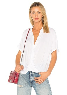 BCBGeneration Wrap Hem Dolman Shirt In Optic White in White. - size L (also in M,XS)