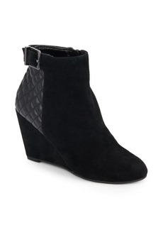 BCBGeneration Wright Leather Wedge Booties