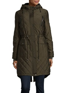 BCBGeneration Zip-Front Faux-Fur Lined Anorak